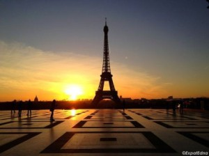 Paris sunrise expat edna