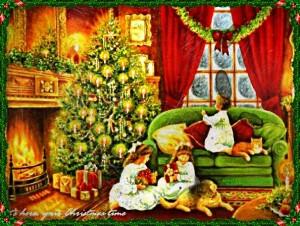régi karácsonykeretes